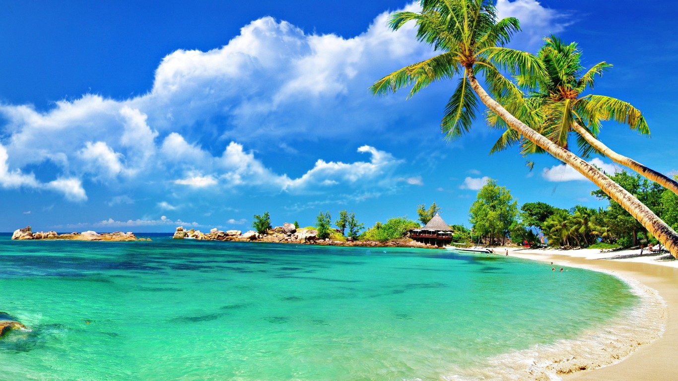 tropical-palm-beach-hd-wallpaper-1366×768